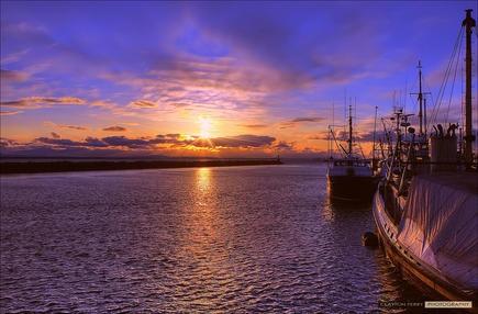 Steveston, Richmond. By Clayton Perry #RichmondBC #explorebc #Sunset