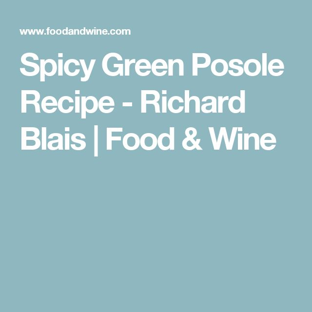 Spicy Green Posole