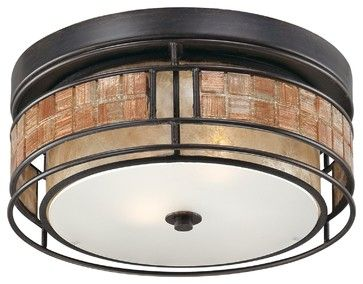 Quoizel QZ-MCLG1612RC Laguna Outdoor Flush Fixture craftsman-outdoor-ceiling-lights