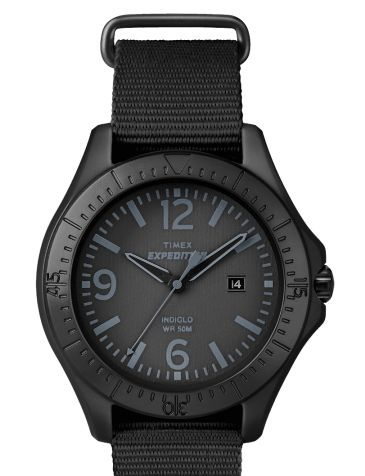A rugged example. The Timex T49933 Expedition Aluminum Camper All Black Design Outdoor Unisex. http://goo.gl/ORPUJN