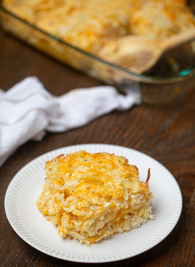Cracker Barrel Hash Brown Casserole Is The Perfect Copycat Breakfast Classic With Shredded Hash Browns Hash Brown Casserole Brown Casserole Hashbrown Recipes