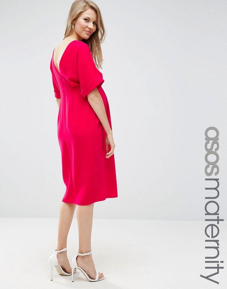 Compra Vestido tejido de vestir con escote en V en la parte posterior de ASOS  Maternity en ASOS. Descubre la moda online.