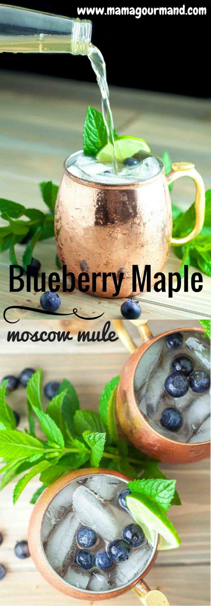 Blueberry Maple Moscow Mule is lightly sweetened with pure maple syrup and muddled fresh blueberries. It is a the perfect light, refreshing…