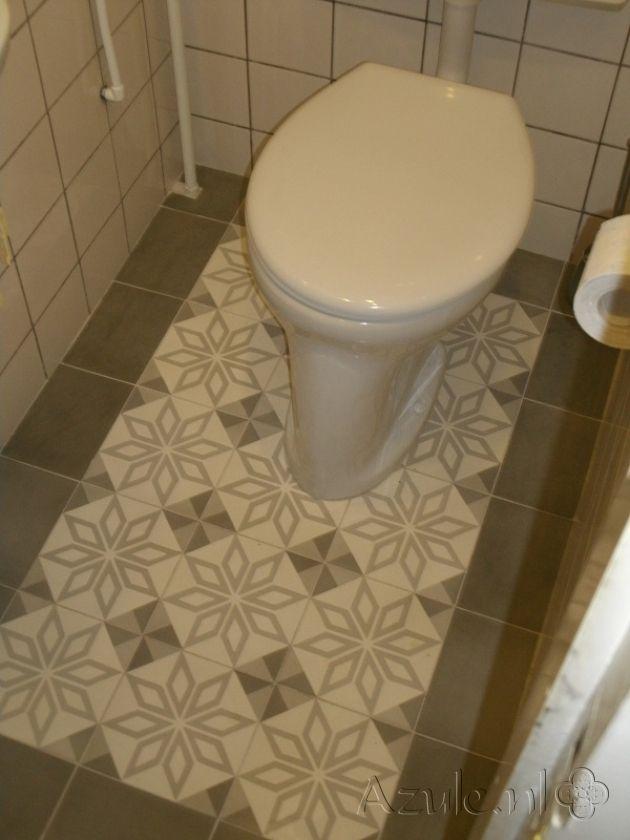 Cementtiles Toilet - Gris 07 - Project van Designtegels.nl