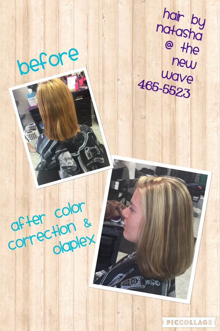 At home box color corrected with blended high and low lights and an Olaplex treatment. By Natasha Cash