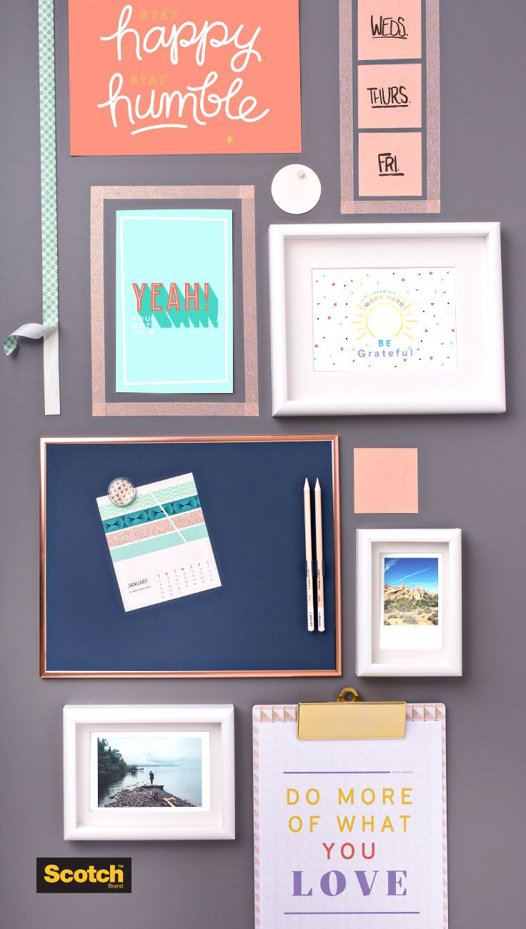 An office gallery wall is the best of both worlds it for Picture frames organized on walls