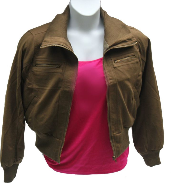 Womens Army Green/Olive Military Bomber Jacket Plus 1X-2X Free Priority Shipping #Finesse #Military