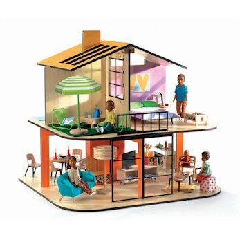 "Djeco Κουκλόσπιτο ""Το σπίτι με τα χρώματα"""