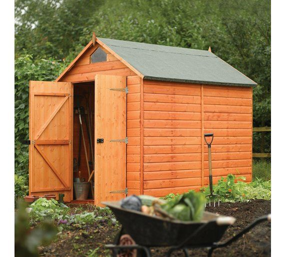 buy rowlinson wooden security garden shed 8 x 6ft at argoscouk