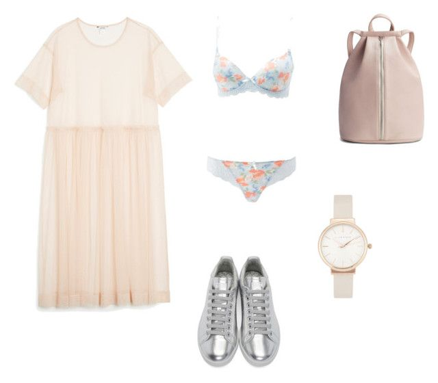 """music festival pastel"" by ksasya on Polyvore featuring Monki, Charlotte Russe, Raf Simons and Olivia Burton"