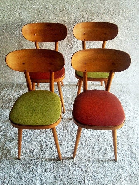Chaises Bistrot Baumann Vintage In 2020 Leather Dining Room