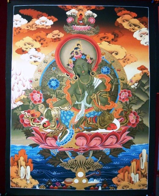 Buddhist deity paintings with roots in Himalayan and Tibetan regions known as 'Thangkas' -intended for personal meditation or instruction of monastic students.-- Sikkim