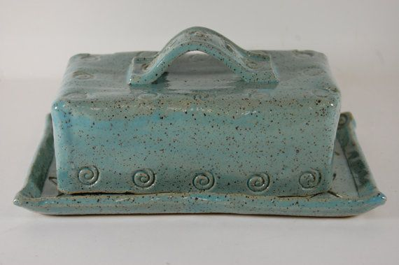 Butter Dish  Covered Butter Dish  Pottery by CenterHillClayWorks, $40.00