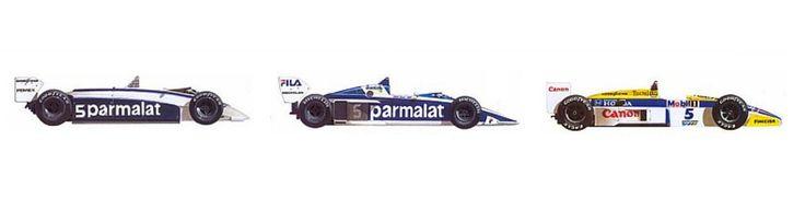 Nelson Piquet 1981, 1983, 1987
