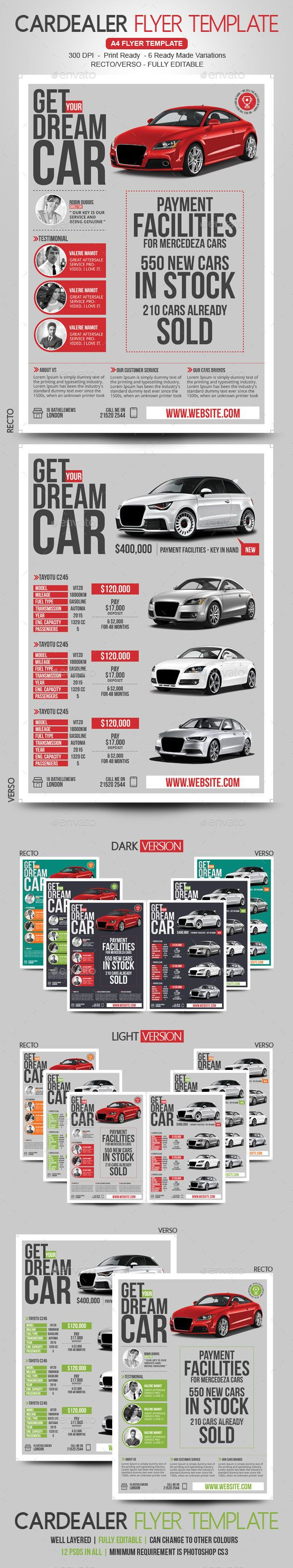 Car Dealer & Auto Services Business Flyer by BloganKids Do you sell CARS? Increase your sales and clients by using this Promotional Flyer.This is a Must-Have for Car Dealers and Auto Ser