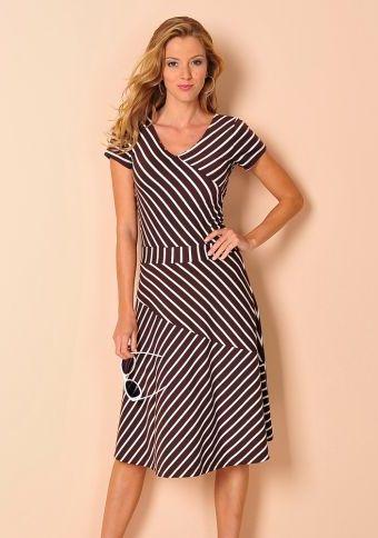 Delší pruhované strečové šaty #ModinoCZ #strips #fashion #modern #trend #clothing #pruhy #oblékání #moda #trendy