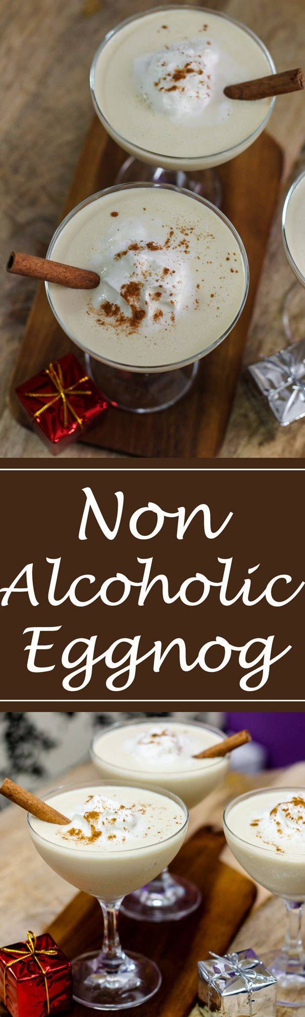 You'll be blown away by the goodness of this decadent and extremely smooth non-alcoholic eggnog.