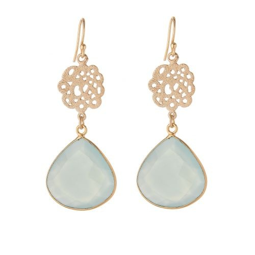 Spring fresh pale green gemstone earrings £49