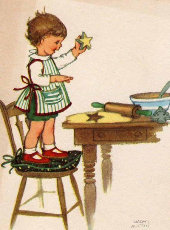 Vintage Christmas Card!  Very Cute