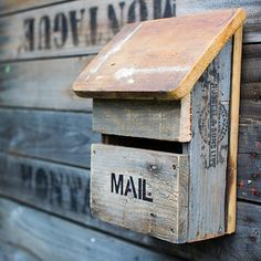 Our new Recycled Wood Letterboxes Made from 100% recycled wood. Each item is unique. castleandcubby.com.au
