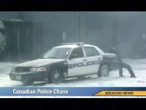 Canadian Police Chase #Canada #Humor - Spoofing a breaking news report, the new national Midas television spot Chase humorously conveys the need for winter tires and the importance of winter car maintenance. Seasonal tire changes are a ritual for Canadian drivers.