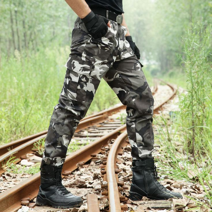 Tactical Uniform Men's Cargo Pants Combat Military Army Pant's Military Camouflage Pants Fashion Style Pant