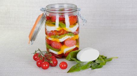Tomates mozzarella àl'huile d'olive