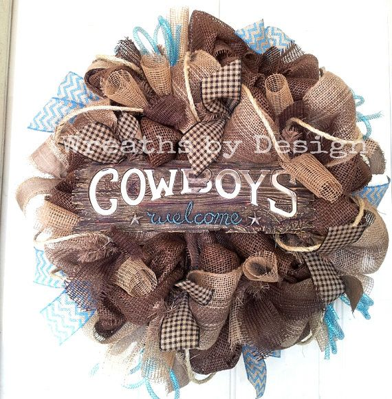 Hey, I found this really awesome Etsy listing at https://www.etsy.com/listing/190157375/western-cowboys-welcome-wreath