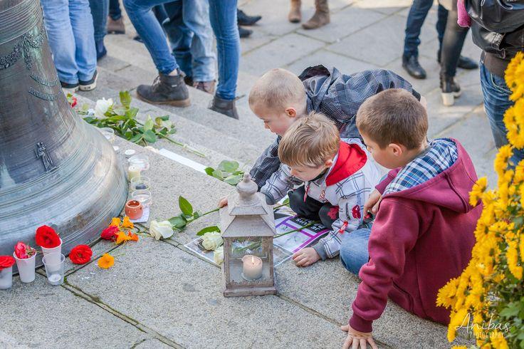 Photographe Normandie - #JeSuisParis - Rassemblement à Villedieu-les-Poêles en hommage aux victimes