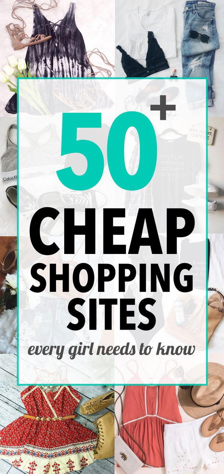 50 Cheap Shopping Sites Every Girl Needs To Know
