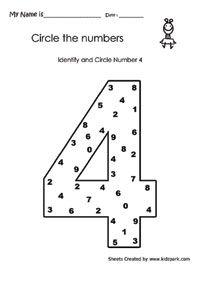 Aantallen Werkbladen, Math Werkbladen voor Kids, leren schrijven Numbers werkblad