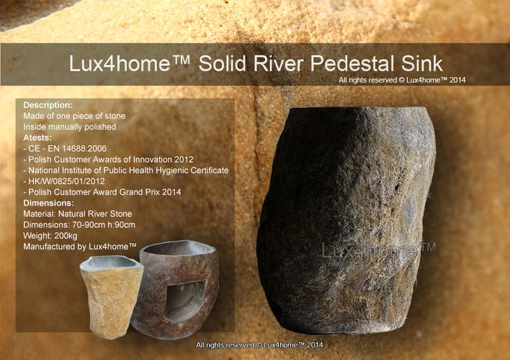 River Stone Standing Sinks Lux4home™
