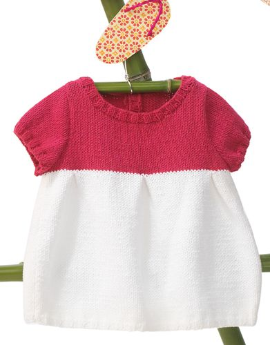Book Baby 68 Spring / Summer | 49: Baby Dress | White / Fuchsia