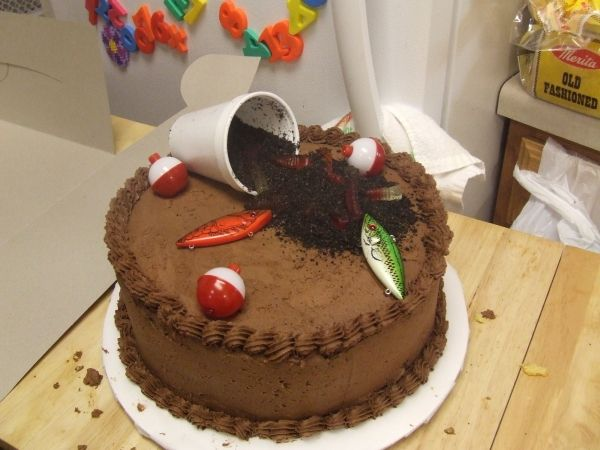 Image detail for -fishing birthday cake by marinewifejones on Cake Central