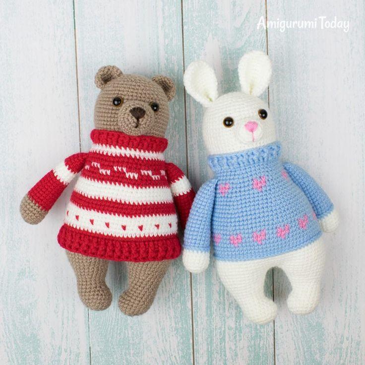 Amigurumi bunny in pullover pattern