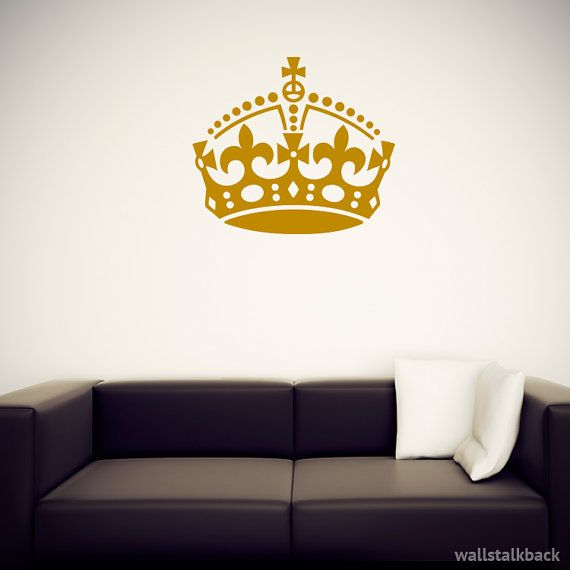 Keep Calm Crown Wall Decal by WallsTalkBack on Etsy