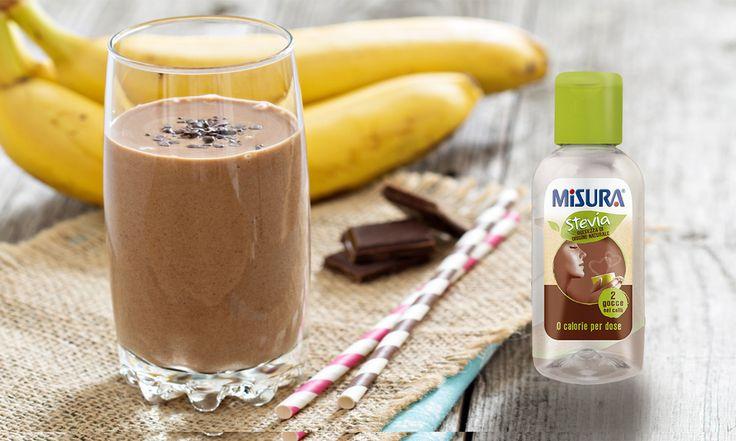 Abbiamo pensato anche una ricetta di San Valentino per i più sportivi: smoothie banana e cioccolato.