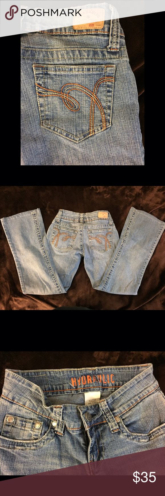 Hydraulic Jeans Size 1/2! Hydraulic Jeans Size 1/2!   Excellent like new condition. Length 33 inseam 26 1/2 Waist 13  Rise 6 leg 7 Hydraulic Jeans