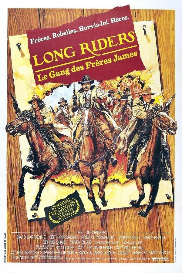 The Long Riders    Le Gang Des Freres James     Support: BluRay 1080    Directeurs: Walter Hill    Année: 1980 - Genre: Western / Histoire - Durée: 98 m.    Pays: United States of America - Langues: Français, Anglais    Acteurs: David Carradine, Keith Carradine, Robert Carradine, James Keach, Stacy Keach, Dennis Quaid, Randy Quaid, Kevin Brophy, Harry Carey, Jr., Christopher Guest, Nicholas Guest, Shelby Leverington, Felice Orlandi, Pamela Reed, James Remar