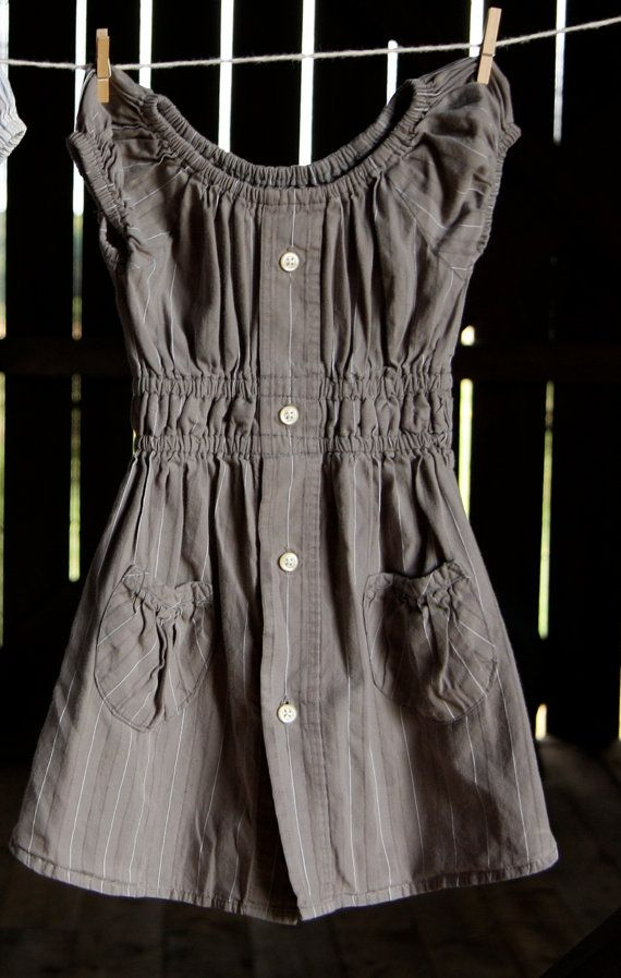 upcycled shirt dress...love LOVE the waist and pockets on this one.  oh, and the color.