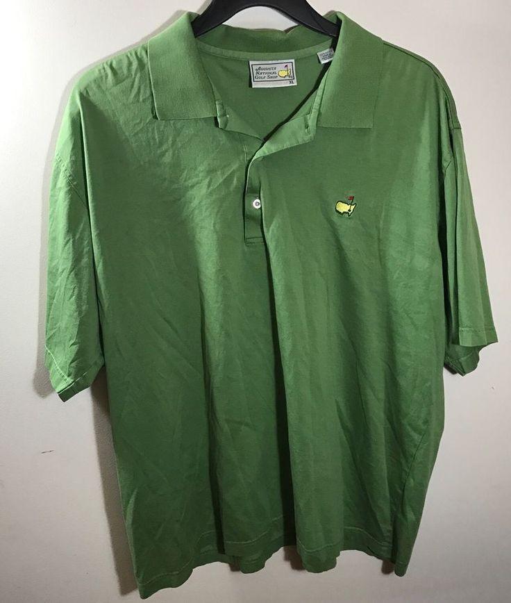 Augusta National Golf Shop Masters Mens Green Short Sleeve Polo Shirt XL    eBay