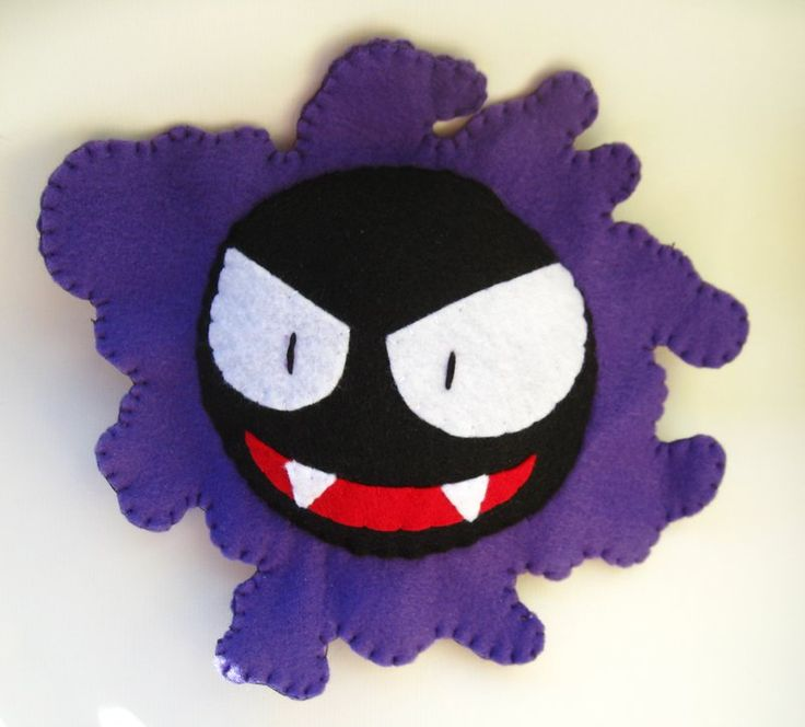 Gastly Pokemon Plush by P-isfor-Plushes on DeviantArt