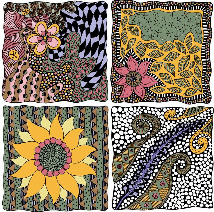 """Garden Inspiration"" - entry for Botanical Extract by Jennifer Reid (Fantangle Designs) @mijo nick Fabrics"