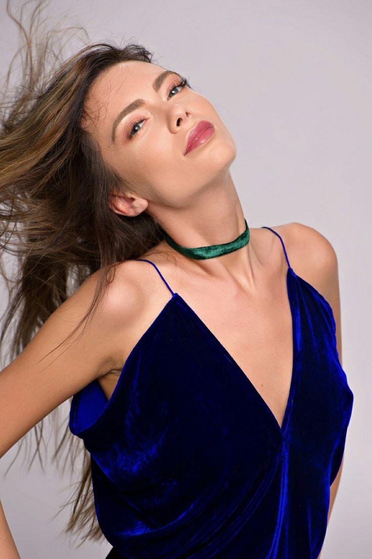 Basic Velvet Choker Necklace Green  #Basic #Velvet #Choker #Necklace #GreenVelvet