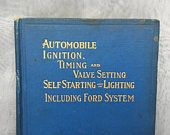 Antique Auto Repair Manual - Vintage Automobile Book - Vintage Car Repair Manual - Ignition Timing Value Setting - Vintage Car Lover Gift