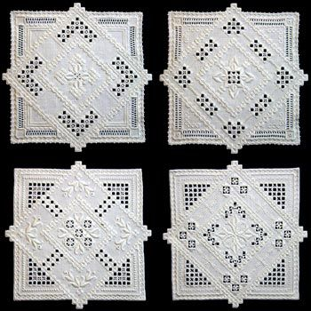 Hardanger Double Doilies