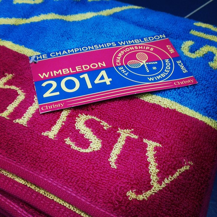 The 2014 Official Wimbledon Collection for Women. Get yours at www.spaces-home.com! #Wimbledon #Towels #Sports #Tennis
