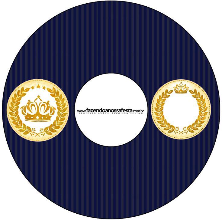 Bolsa De Festa Azul Marinho : Kit festa completo coroa de principe azul marinho