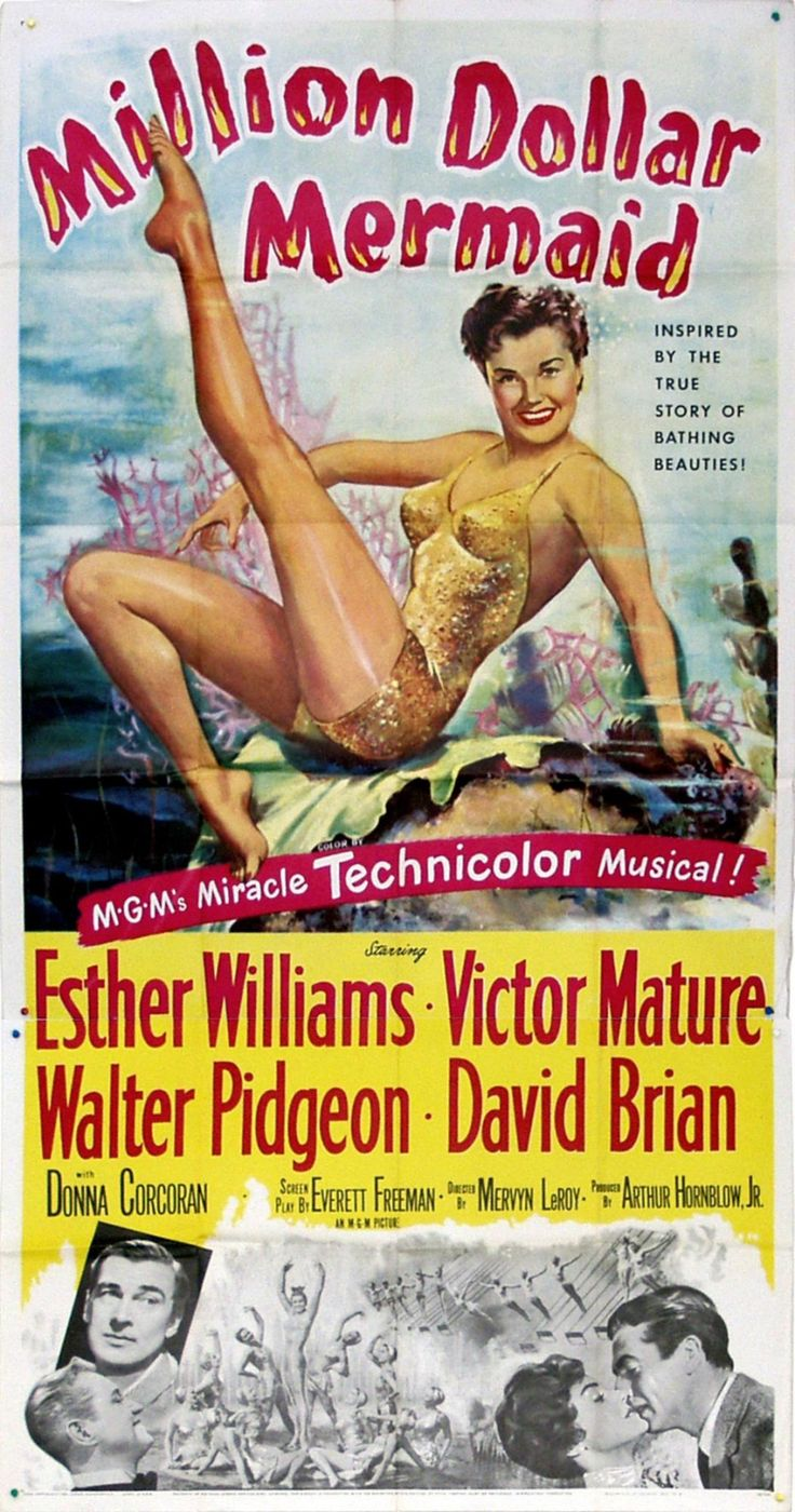 Million Dollar Mermaid (1952) starring Esther Williams, Victor Mature, Walter Pidgeon & David Brian