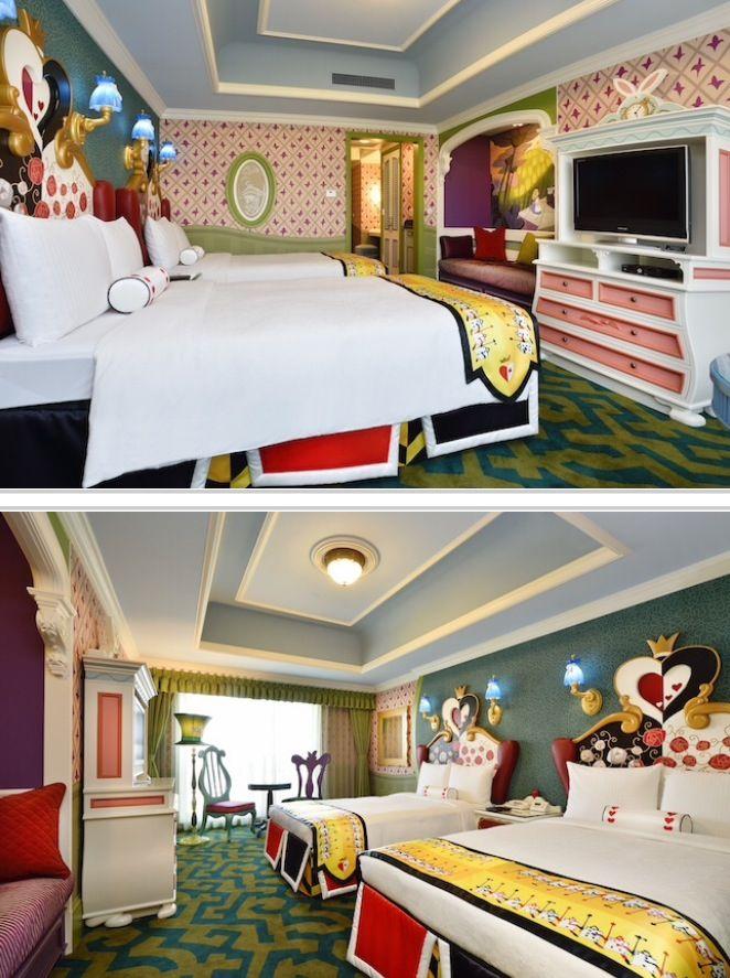 PHOTOS: Tokyo Disneyland Hotel, Alice in wonderland themed hotel room